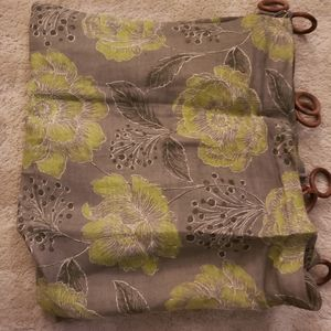 Green Pattern Curtains | 2 Panels